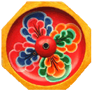 Incense Burner Painted Peoni Design