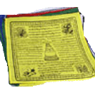 Eight Powerful Mantras Prayer Flag