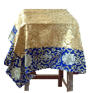 Square Table Cloth With Elegant Contrast Border