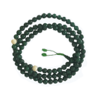 Green Mala 108 Beads with Mother of Pearl Divider