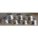 "Silver Plated Small Water Bowls 1.5"" (4.5cm)"
