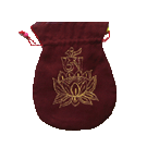 Maroon Mala Bag With Gold Embroidery