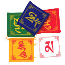Om Mani Mantra Flags