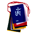 Om Mani Mantra Prayer Flag English/Tibetan