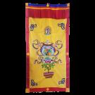 Embroidered Auspicious Symbol Door Curtain