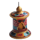 Prayer Wheel Painted Medium