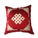 Elegant Cushion Cover in Red or Cream