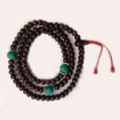Rosewood Mala Turquoise Divider Beads