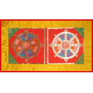 Dorje Bell Mat with Wheel Design
