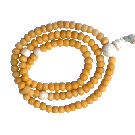 A Yak Bone Mala with Conch Guru Bead